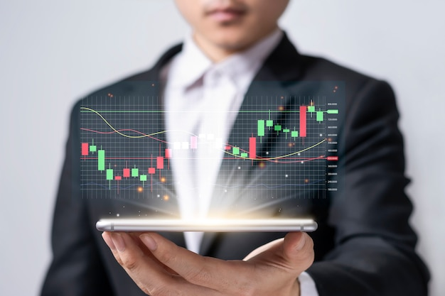 Marché boursier ou trading forex avec des idées d'investissement en crypto-monnaie