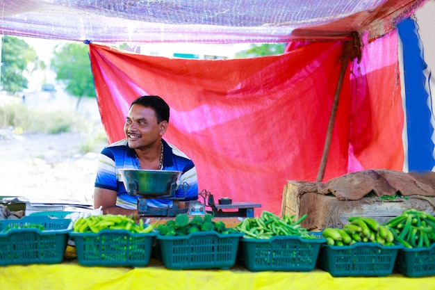 Marché de légumes indien