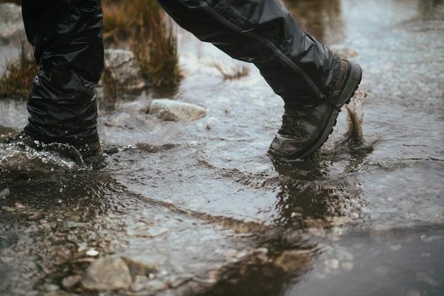 Marcher dans l'eau