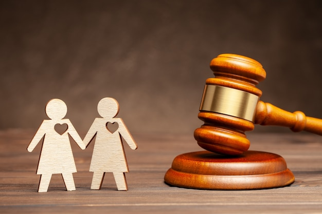 Mariage gay illégal deux lesbiennes sur fond de jud