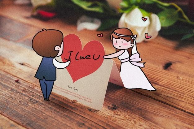 Mariage: illustration de photographie créative mélangée
