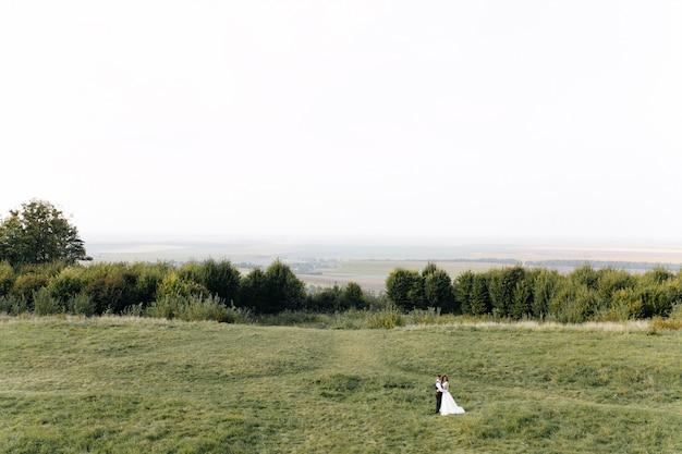 Mariage en montagne, un couple amoureux