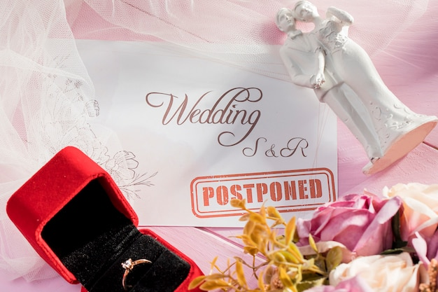 Mariage retardé en raison de covid19