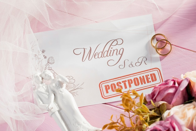 Mariage suspendu en raison de covid19
