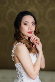 Mariée d'asie, préparation de mariage