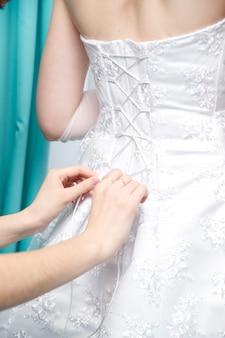 Mariée corset blanc luxueux