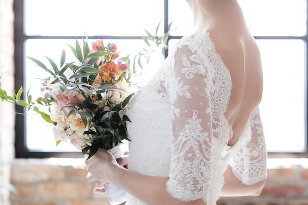 Mariée dans sa robe de mariée