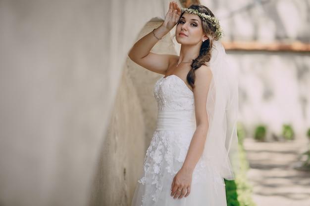 Mariée avec un diadème