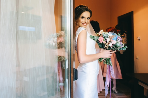 Mariée du matin avant le mariage