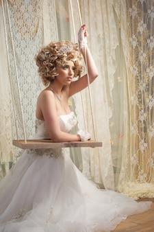 Mariée en robe blanche weddng