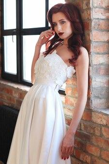 Mariée en robe de mariée