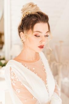 Mariée avec robe de mariée