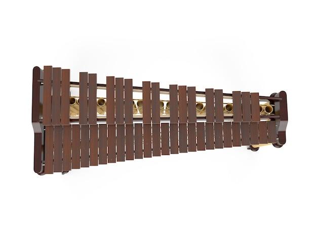 Marimba isolé sur blanc
