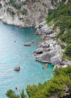 Marina piccola à l'île de capri, italie