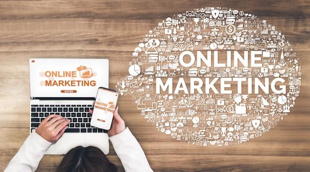 Marketing des affaires de technologie numérique