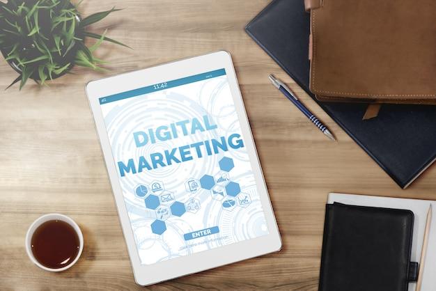 Marketing du concept d'entreprise de technologie numérique