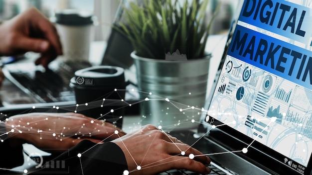 Marketing de la technologie numérique business conceptuel