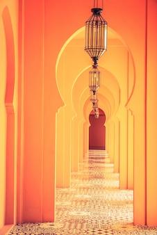 Maroc l'architecture de la lampe