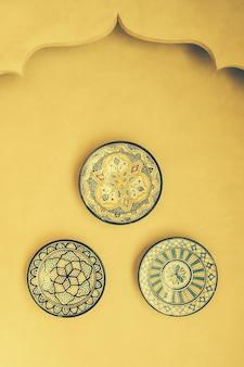 Maroc vente plat plaque d'artisanat