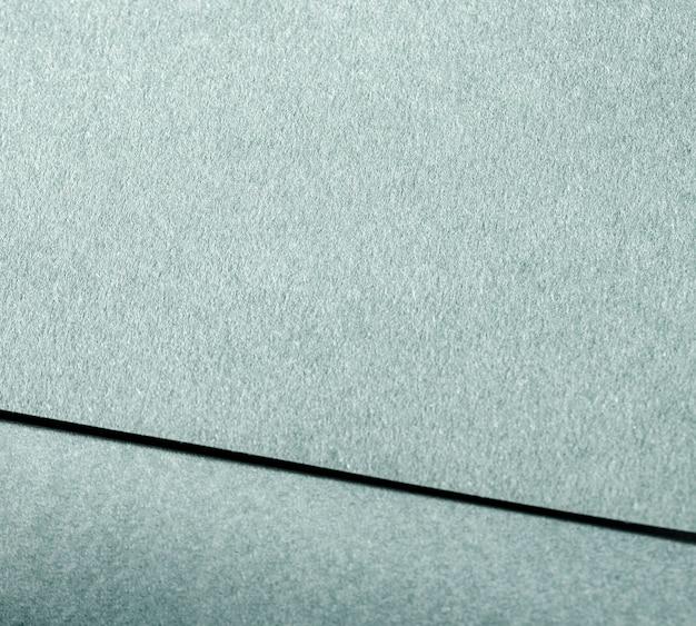 Marquage en gros plan sur papier texturé bleu