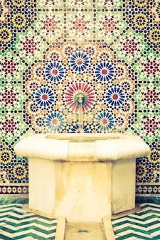 Marrakesh intérieur arabe fleuri islamic