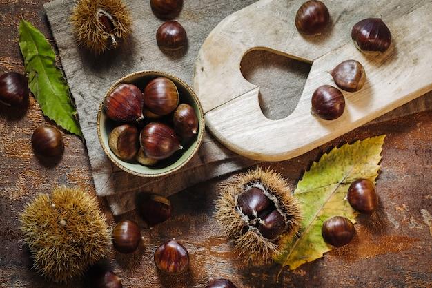 Marrons crus frais