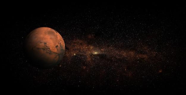 Mars sur fond de l'espace