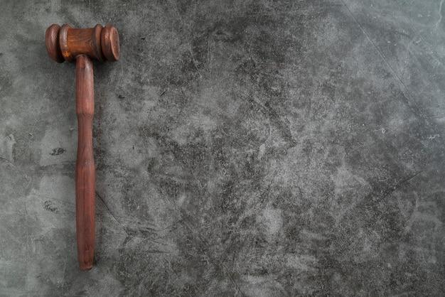 Marteau du juge vue de dessus