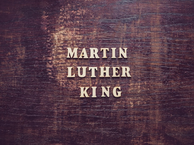 Martin luther king jr. belle carte lumineuse