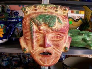 Masque d'artisanat mexicain, déguisement