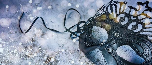 Masque de carnaval, fond de vacances