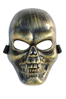 Masque de crâne isolé sur fond blanc