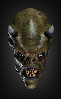 Un masque effrayant. illustration 3d