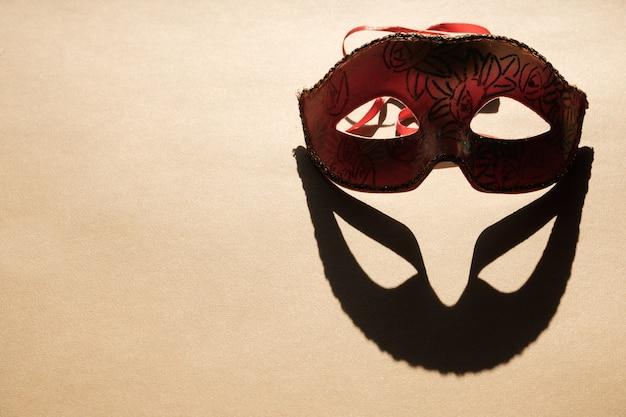 Masque facial du nouvel an. nouvel an et noël