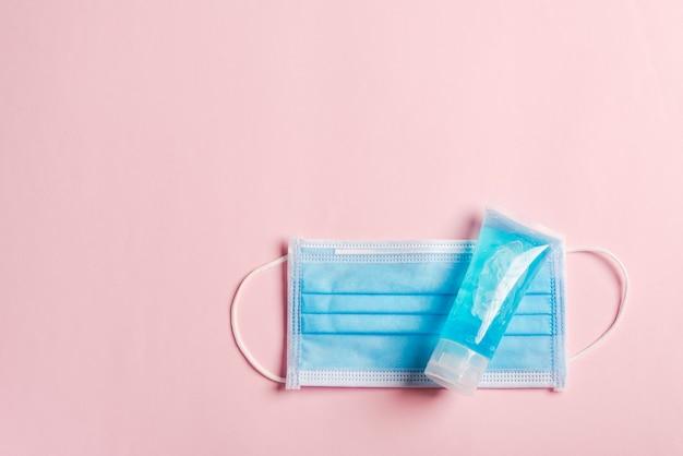 Masque facial de protection médicale pour couvrir la bouche et le nez et gel alcoolique désinfectant gel nettoyant pour les mains