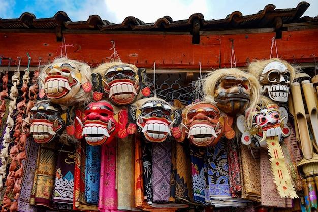Masque fait de masque de magasin de bois à bali