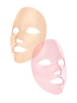 Masque en feuille rose et orange 3d render