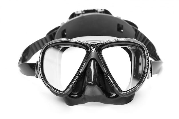 Masque de plongée isolé sur blanc