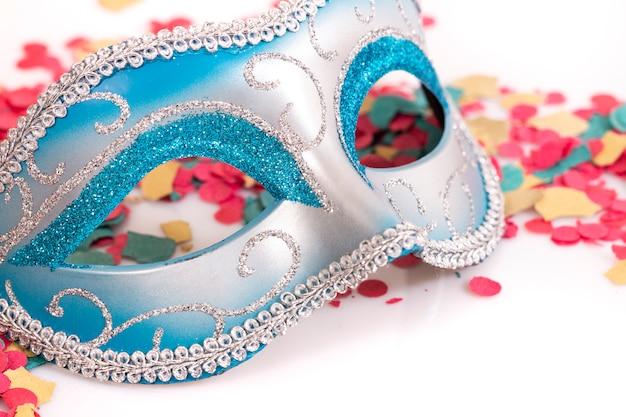 Masque vénitien bleu