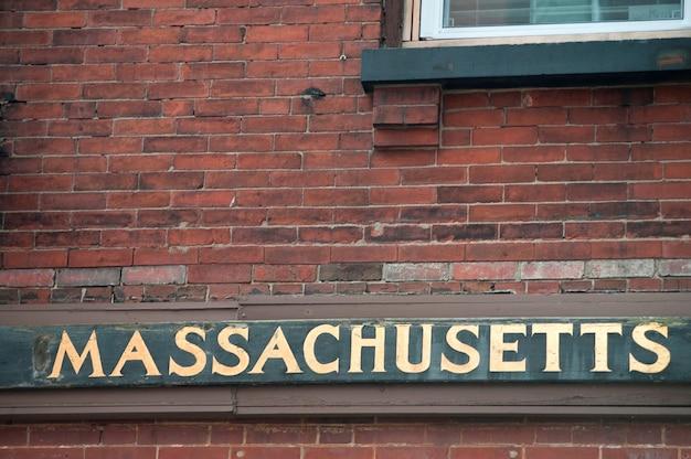 Massachusetts signe à boston, usa
