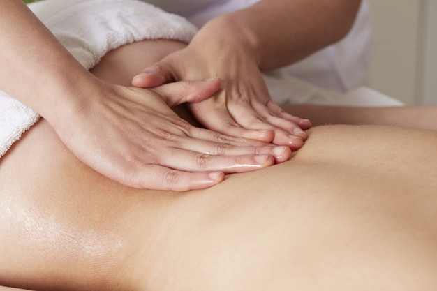 Massage au club de spa