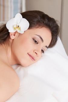 Massage au club de spa