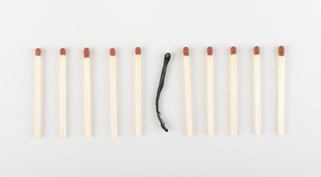 Un match brûlé parmi ceux non brûlés