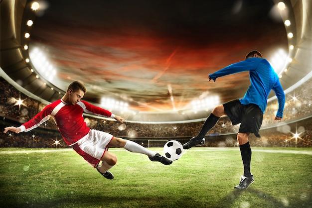 Match de football au stade