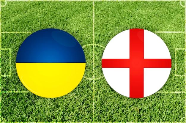 Match de football entre l'ukraine et l'angleterre