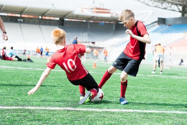 Match de football pour enfants