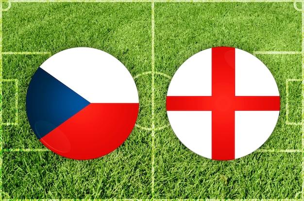 Match de football république tchèque contre angleterre