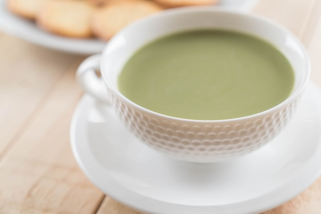 Matcha latte chaud