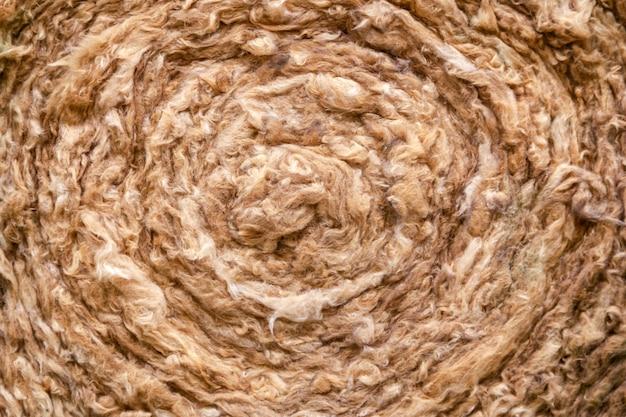 Matériau d'isolation thermique, laine de roche. couche d'isolation thermique du toit. bouchent laine minérale, fibre, coton minéral, fibre minérale, isolation thermique en fibre de laine de verre.