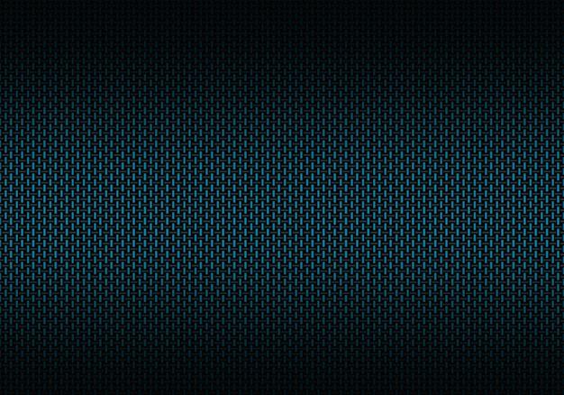 Matériau texturé abstrait en fibre de carbone bleue